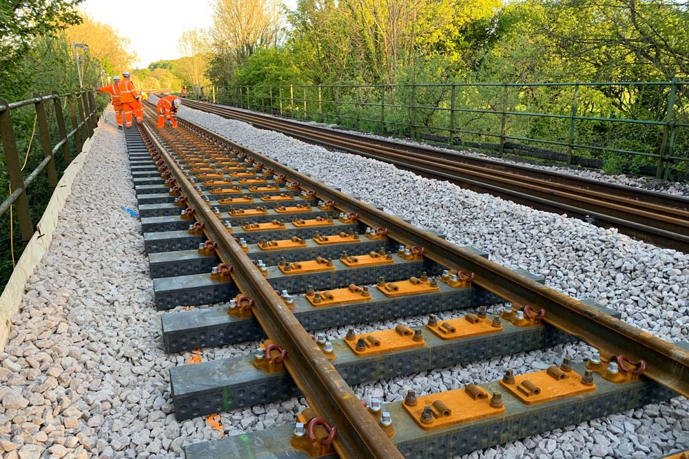 All Change! First recycled plastic railway sleepers laid on Network Rail tracks